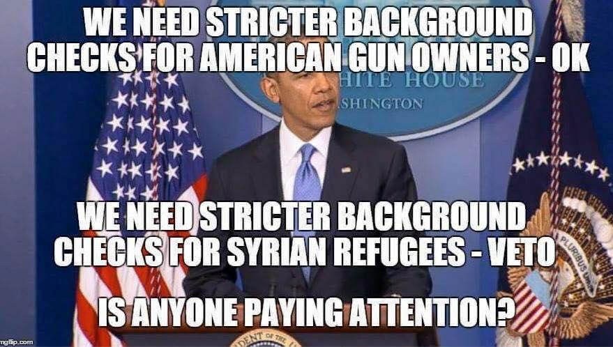 Obama on background checks for guns and refugees