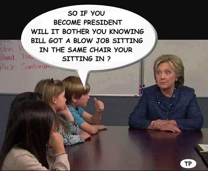 Will Hillary mind sitting in the chair Bill used with Lewinsky