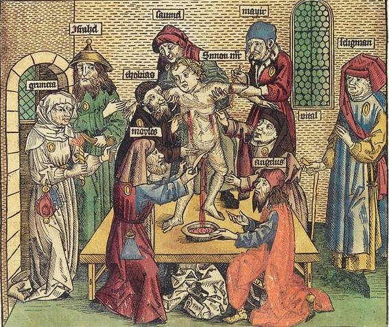The Nazis would have recognized the antisemitic propaganda in this medieval woodcut.