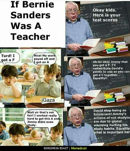 Bernie as a teacher