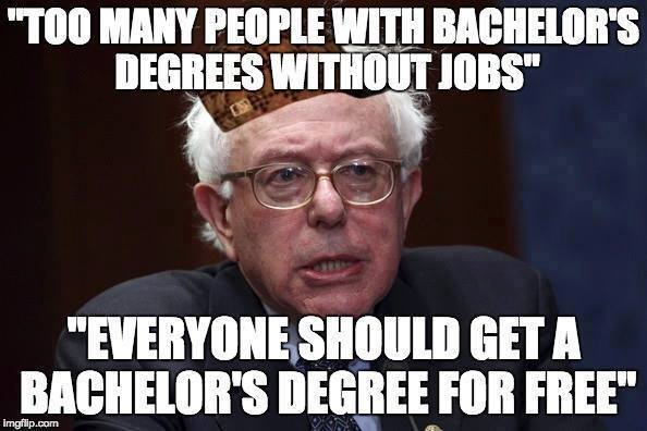 Bernie bachelor's degrees