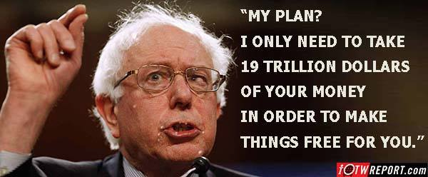 Bernie wants 19 trillion