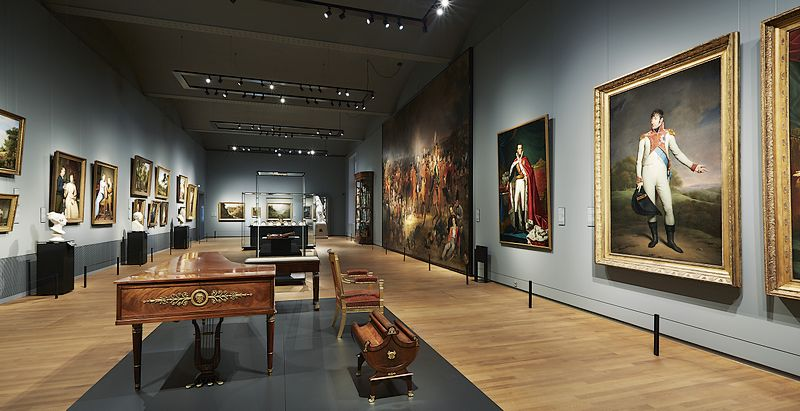 A gallery in the Rijksmuseum.