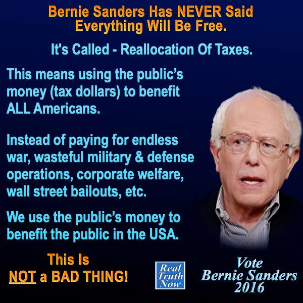 Bernie and free stuff