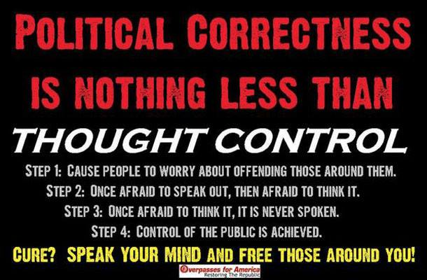 Government Free speech Political correctness is a form of control