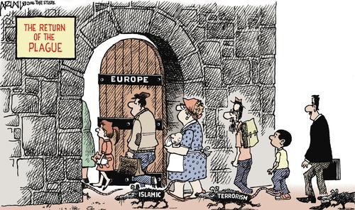 Islam Europe refugees plague