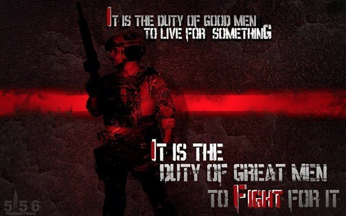 Military great men fight for something
