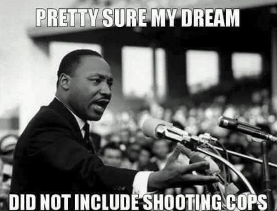 Police Martin Luther King dream