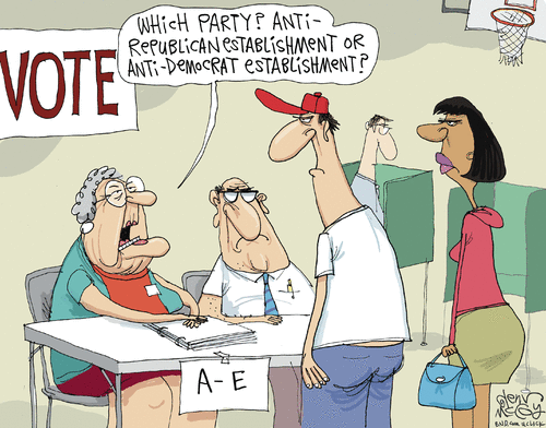 Politics anti-party people
