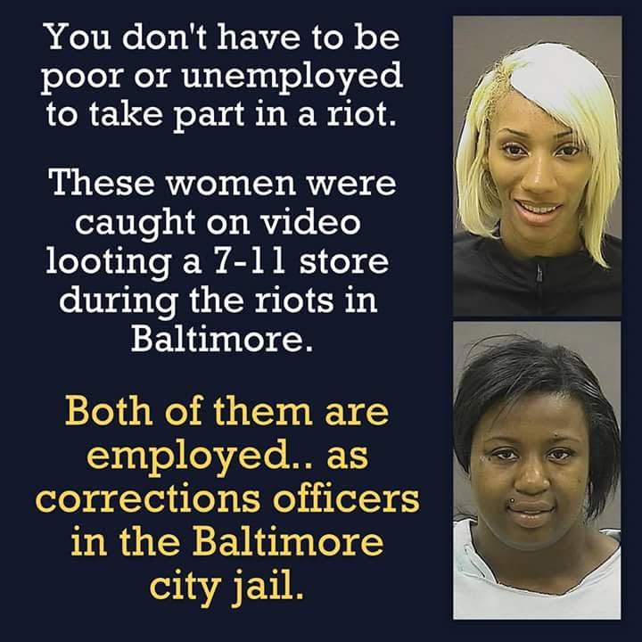 Stupid liberals prison system employees loot