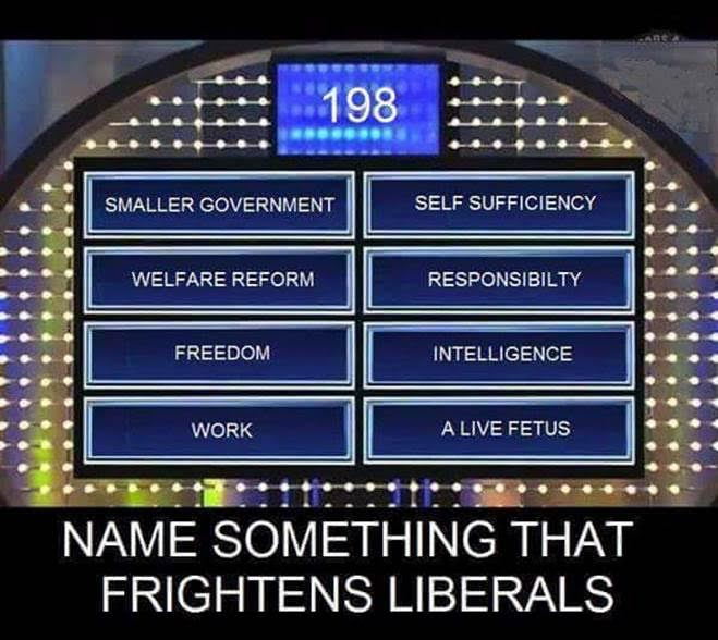 Stupid liberals things that frighten them