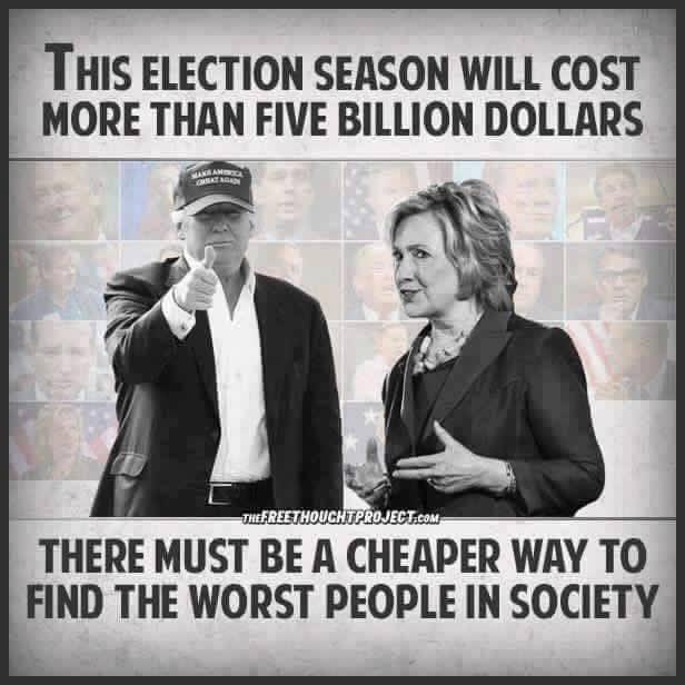 Trump Hillary Clinton expensive election