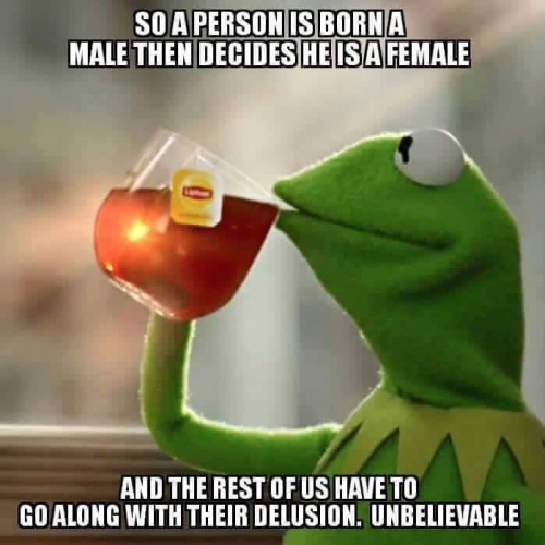 Bathroom gender delusional