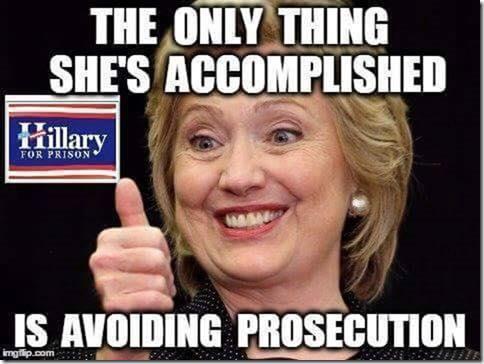 Hillary avoided prosecution so far