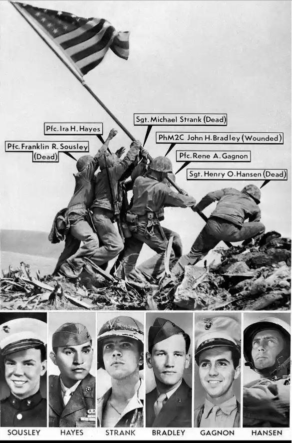 Memorial Day Flag raising Iwo Jima