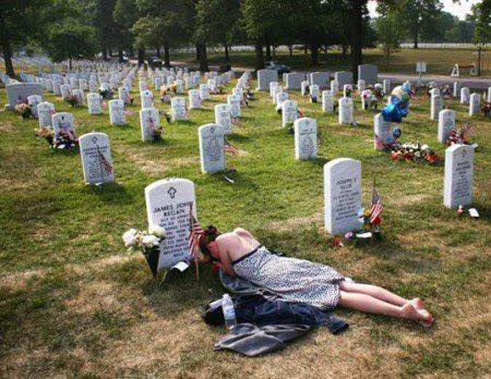 Military James Regan's grave