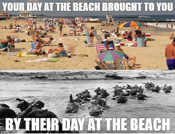 Military day at the beach