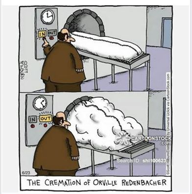 Silly Orville Redenbacher cremation