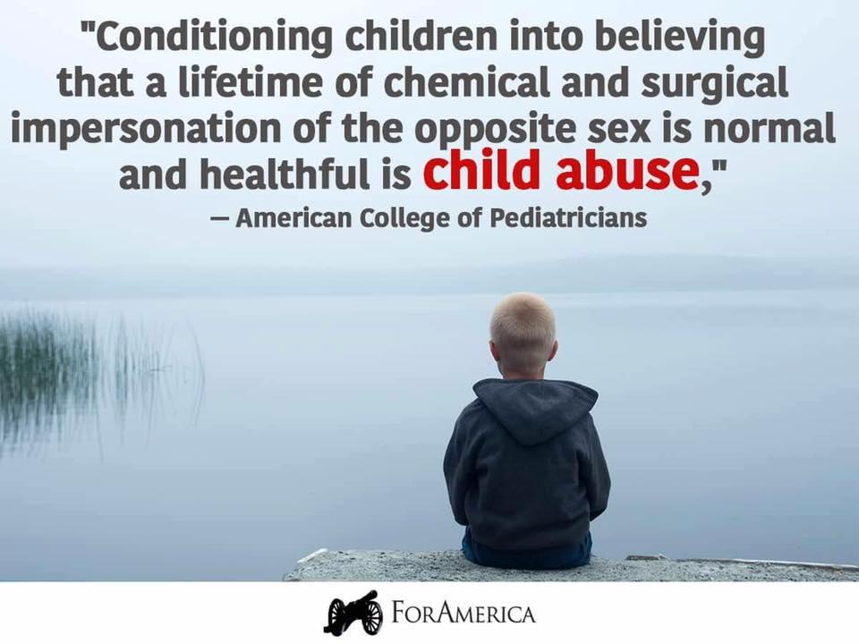 Stupid liberals transgender child abuse