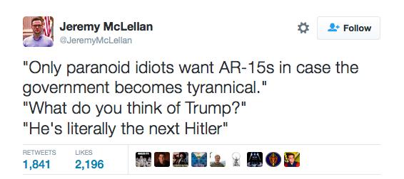 Gun tyranny Hitler Trump