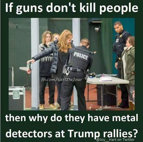 Guns Trump rallies