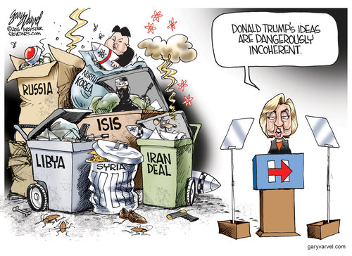 Hillary incoherent ideas