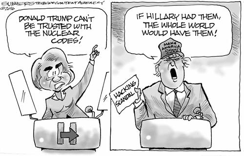 Hillary nuclear codes risk