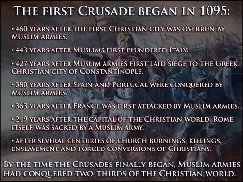 Islam Crusades were a response