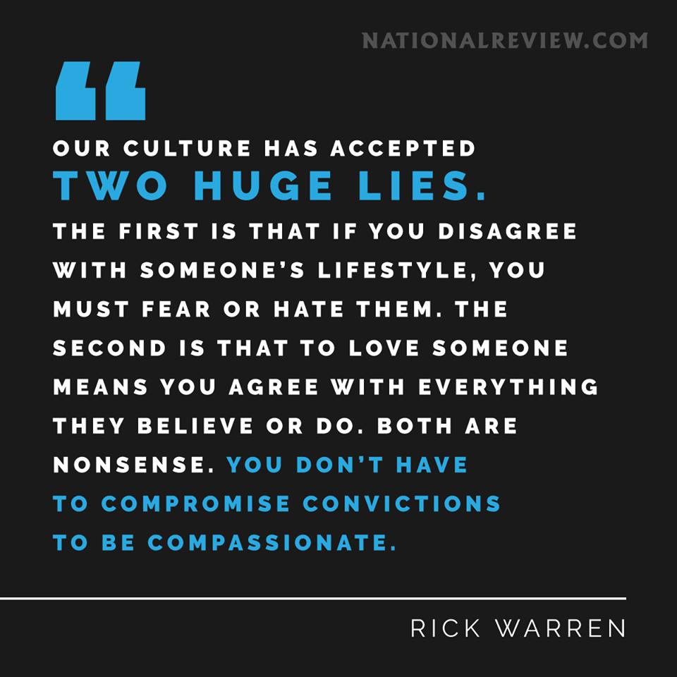 Wisdom compassion and convictions Rick Warren