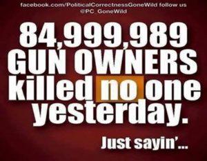 Gun legal gunowners not violent