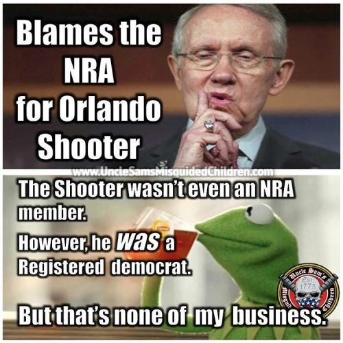 Guns Orlando shooter Democrat