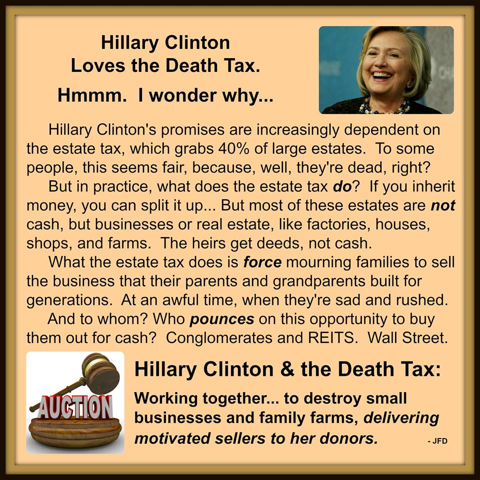 Hillary's death tax