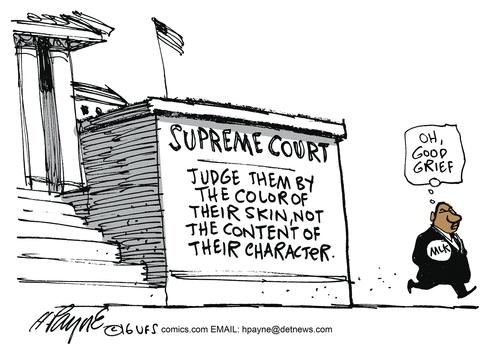 Race Left judges by color of skin