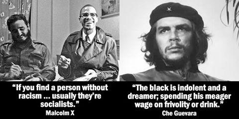 Race socialists are racist Che Guevara