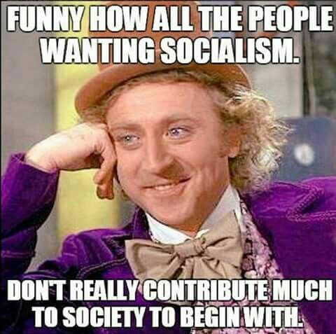 Socialism people who don't contribute