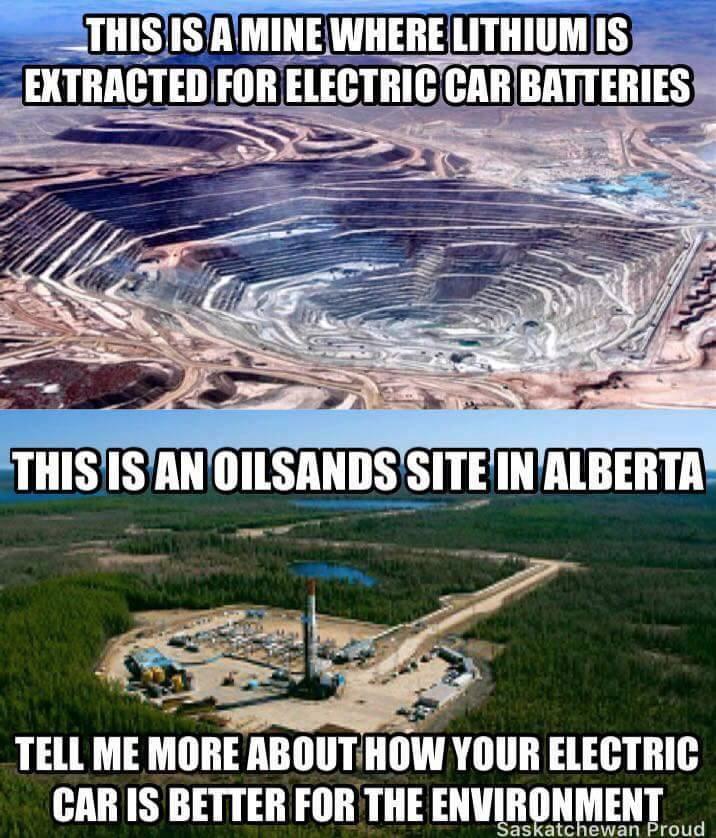 Stupid Leftists batteries more destructive than oil
