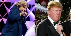 Trump and Hillary ugly