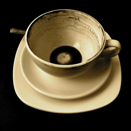 Dregs of coffee