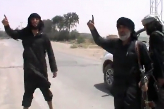 ISIS one finger salute