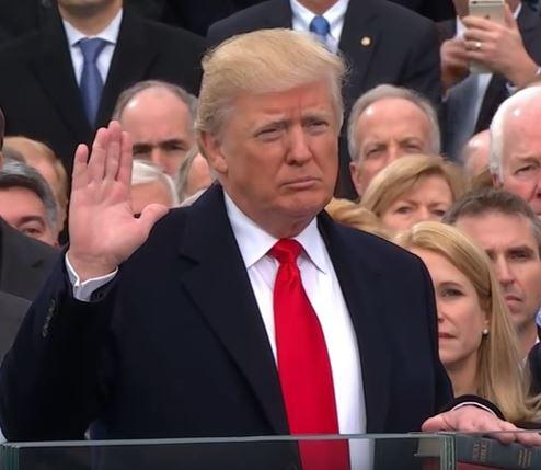President Trump's America oath of office