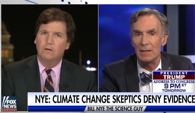 Bill Nye Tucker Carlson climate change