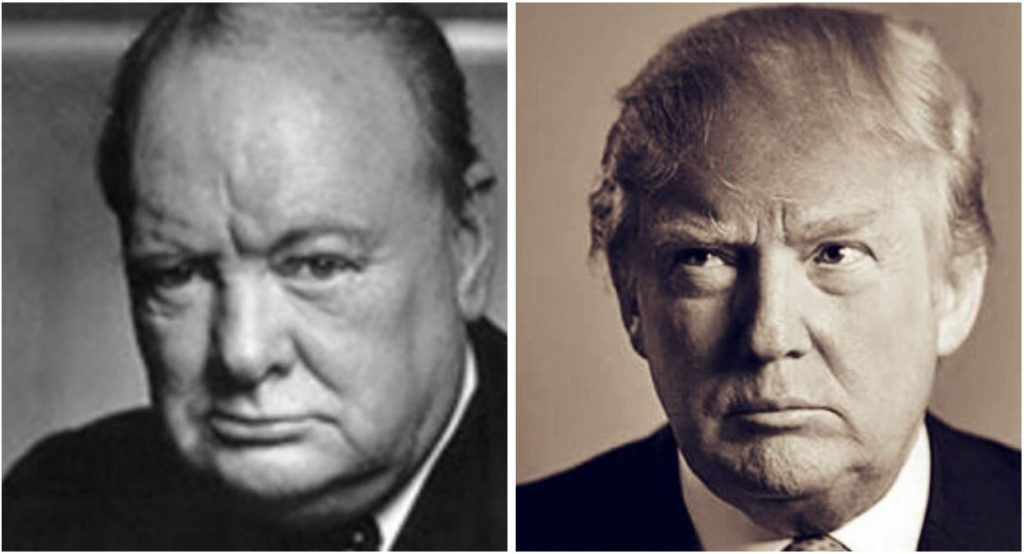 Darkest Hour Winston Churchill Donald Trump