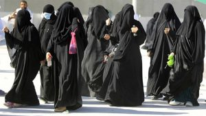 Women in modern day Saudi Arabia.