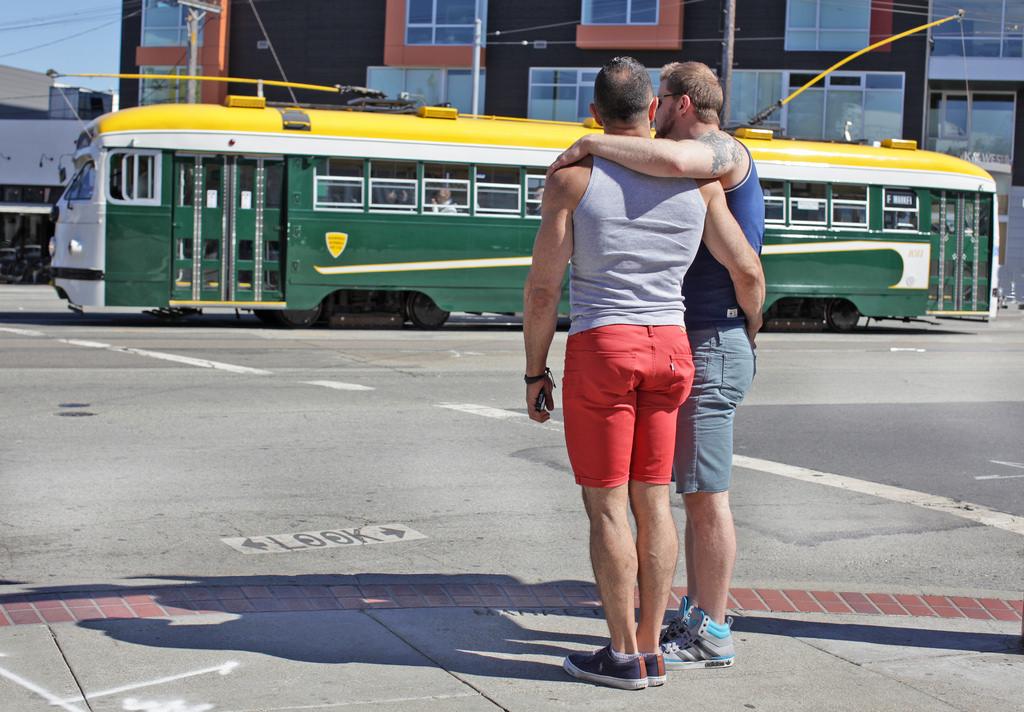 Obama gay Castro street