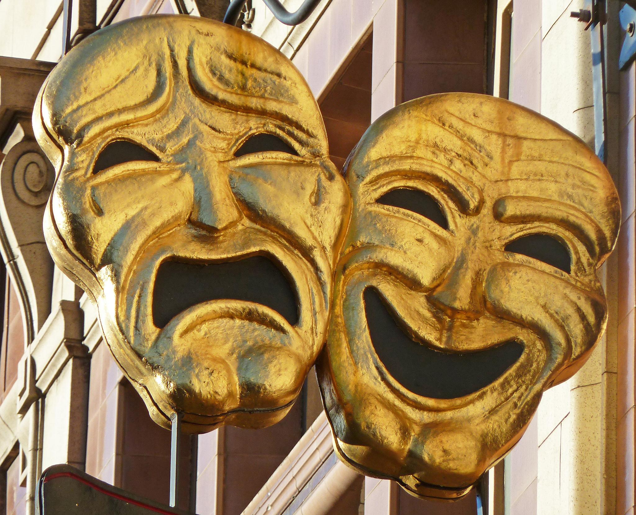Comedy Tragedy Masks  Bookworm Room