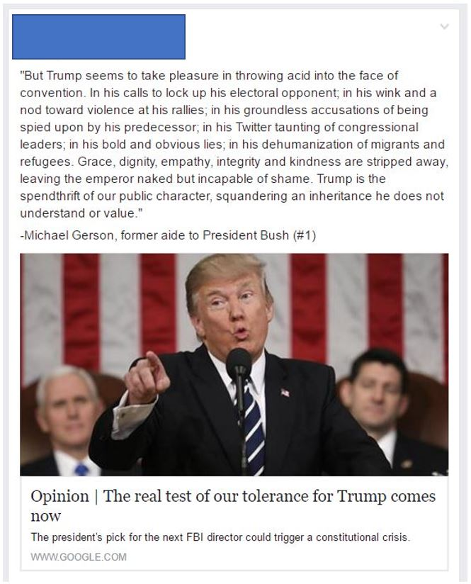 Facebook Feed Hysterical Progressives Trump Derangement Syndrome