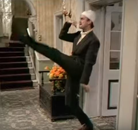 Fawlty Towers John Cleese Germans goose step