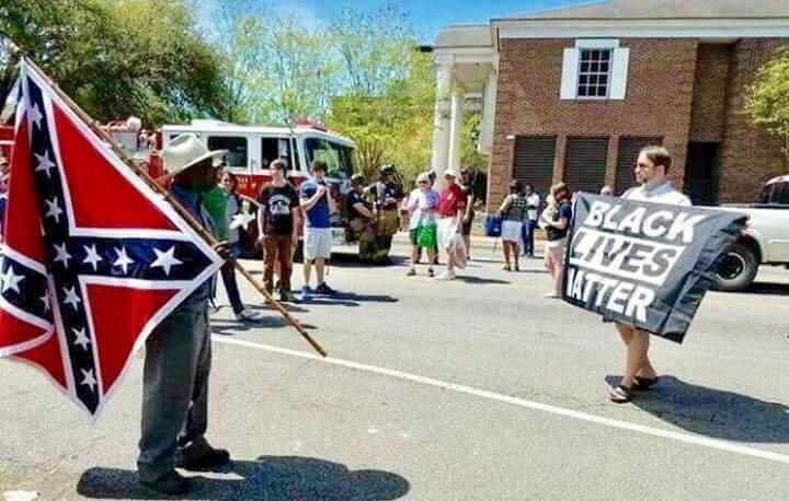Black Confederate Black Lives Matter BLM Confederacy Confederate Flag