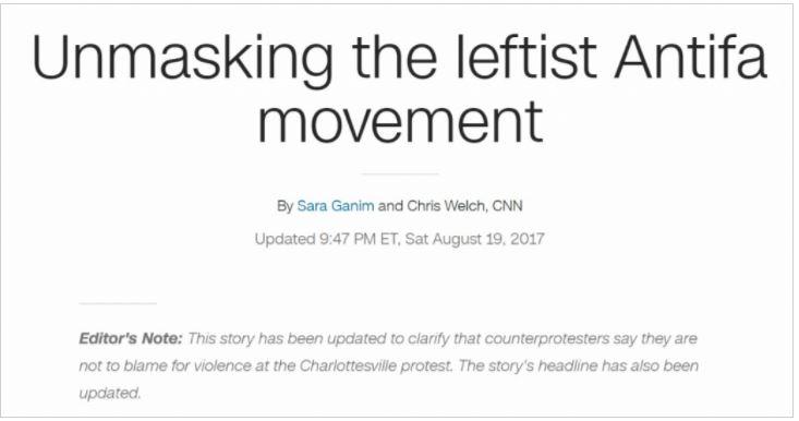 CNN Antifa Orwell