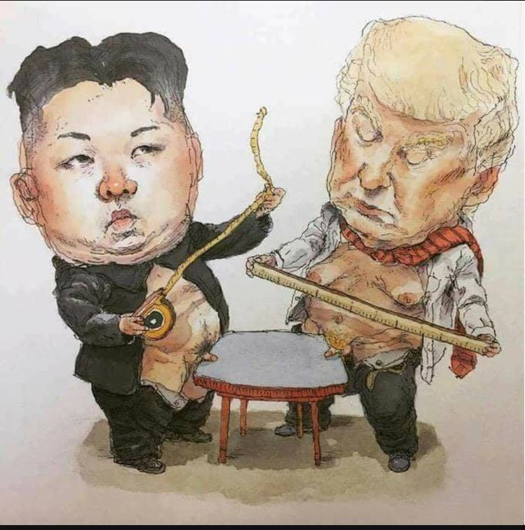 Donald Trump Kim Jong-un comparing penis size